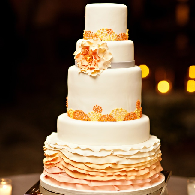 """Our wedding cake was unique and fit our wedding