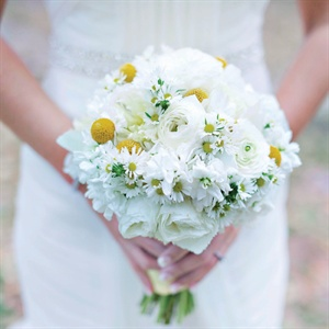 White and Yellow Bridal Bouquet