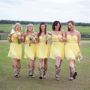 Pale Yellow J. Crew Bridesmaid Dresses