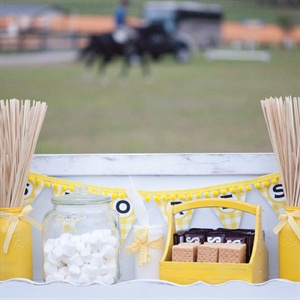 Yellow and White S'mores Station