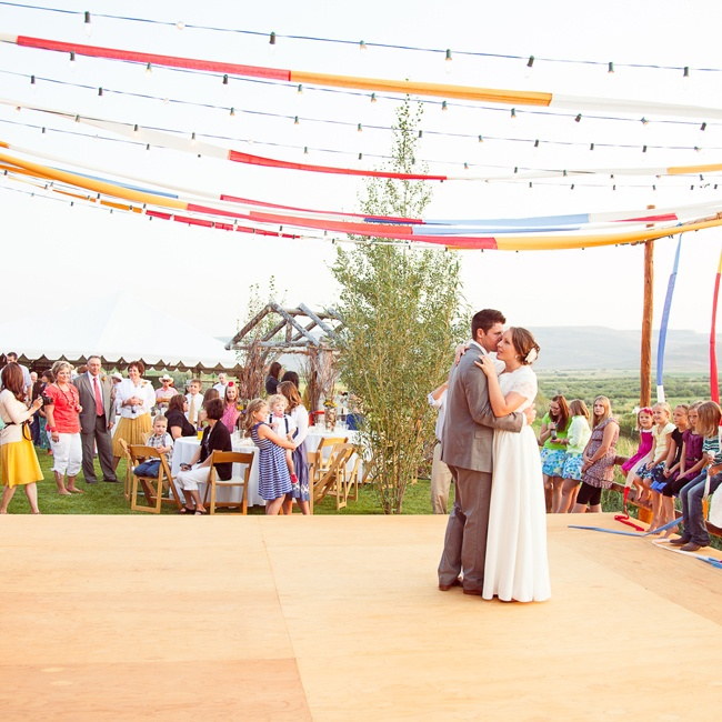 "The couple danced to ""Me and You"" by Kenny Chesney."