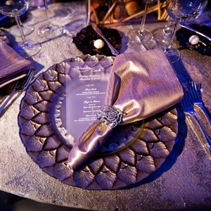Champagne and Bronze Chargers and Linens