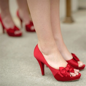 Apple-Red Bridesmaid Shoes