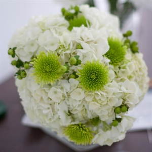 Mum and Hydrangea Bridal Bouquet