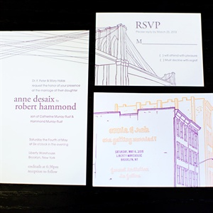 Brooklyn Inspired Invitations