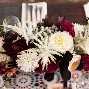 Red and White Floral Centerpiece
