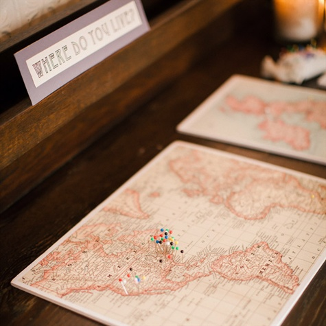 Creative Guest Book Map