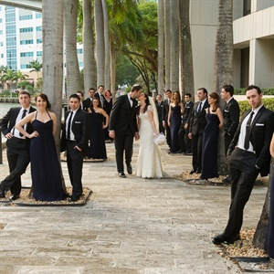 Black and Navy Wedding Attire