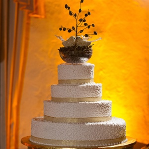 Four-Tiered Buttercream Wedding Cake