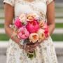 Coral Bridal Bouquet