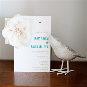 Floral Embellished Invitation