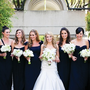 Navy Amsale Bridesmaid Dresses