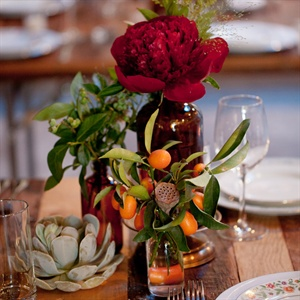 Glass Bottle Centerpieces