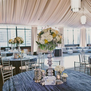 Blue, Green and Yellow Reception Decor