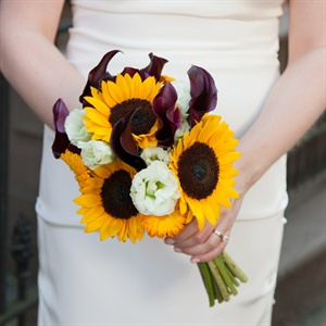 Yellow and Plum Bouquet