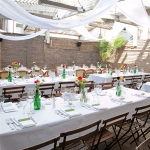 Simple Outdoor Reception Decor