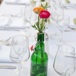 Grolsch Bottle Centerpieces