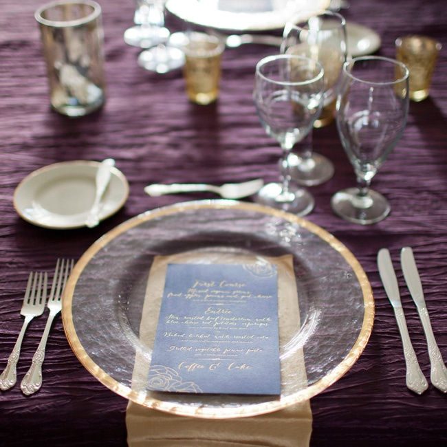 Frosted gold-rimmed