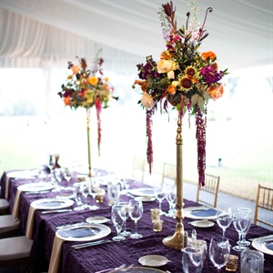 Tall Autumn-Inspired Centerpieces