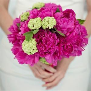 Fuchsia Peony Bridal Bouquet