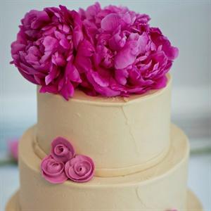 Fuschia Peony Cake