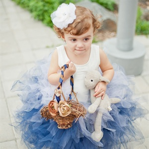 Blue Ombre Flower Girl Tutu
