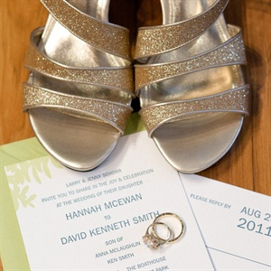 Gold Glitter Bridal Shoes