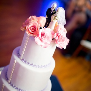 Skeleton Bride and Groom Cake Topper