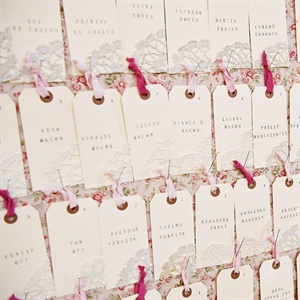Stamp and Doily Escort Cards