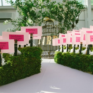 Pink on Pink Escort Cards