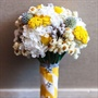 Yellow, White and Silver Bouquets