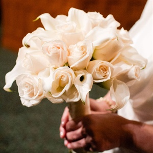 White Rose and Calla Lily Bridal Bouquet