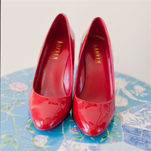 Red Ralph Lauren Bridal Shoes
