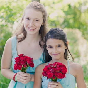 Aqua Flower Girl Dresses