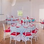 Aqua Chevron Table Linens
