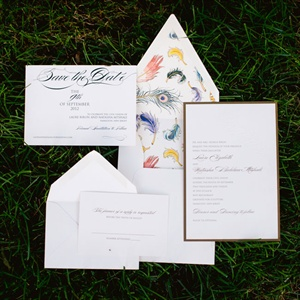 Feather Motif Invitations