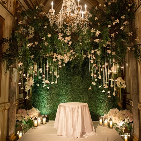 Hanging Orchid and Lantern Decor