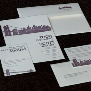 Contemporary Cityscape Invitation Suite