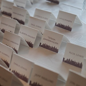 Cityscape Themed Escort Cards
