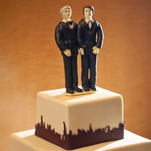 Personalized Tiny Groom Cake Toppers