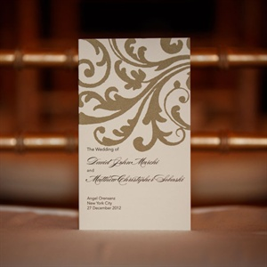Elegant Ivory and Gold Invitations