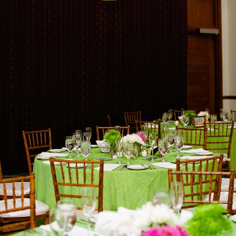 Lime Green Reception Decor