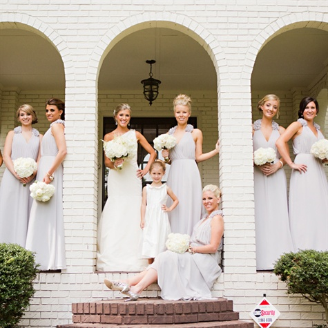 Elegant Dove Gray Bridesmaid Dresses