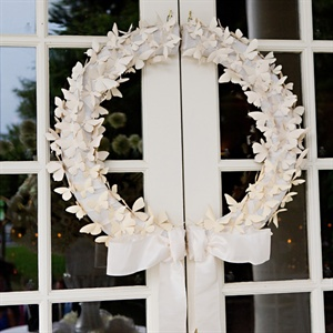 White Butterfly Wreath