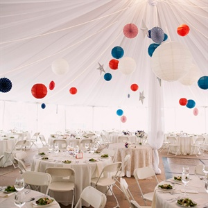 Red, White and Blue Paper Lanterns