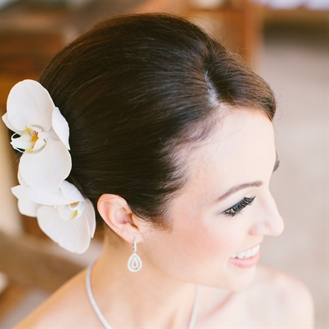 Floral Updo Wedding Hair