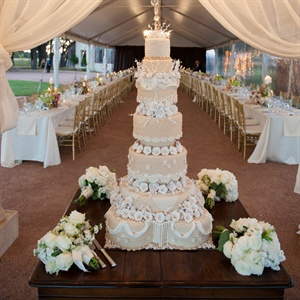 Elegant Seven-Tiered Wedding Cake