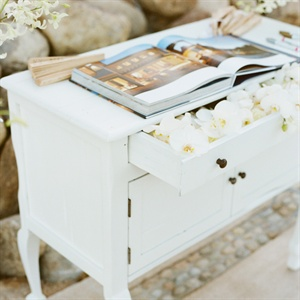 Guest Book Display Table