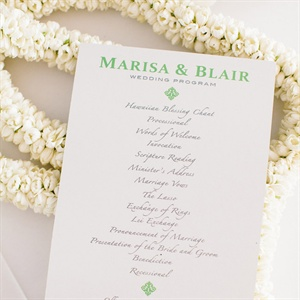Simple Wedding Program Design