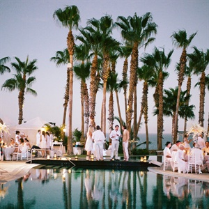 Evening Poolside Wedding Reception